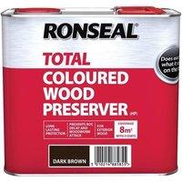 Ronseal Trade Total Wood Preserver Dark Brown 2.5 litre