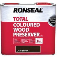 Ronseal Trade Total Wood Preserver Light Brown 2.5 litre