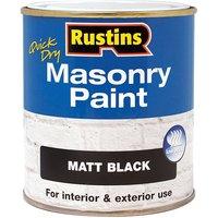 Rustins Quick Dry Masonry Paint Matt Black 500ml