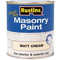 Rustins Quick Dry Masonry Paint Matt Cream 500ml