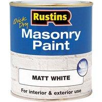Rustins Quick Dry Masonry Paint Matt White 500ml