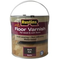 Rustins Quick Dry Coloured Floor Varnish Dark Oak 2.5 litre