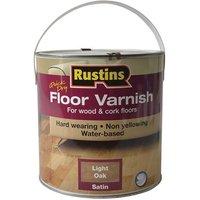 Rustins Quick Dry Coloured Floor Varnish Light Oak 2.5 litre