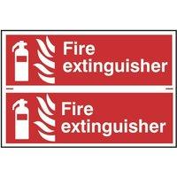 Scan Fire Extinguisher - PVC 300 x 100mm