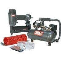 Senco Finish Pro 18 Pneumatic Nailer and 1 HP Compressor