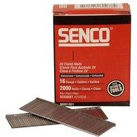 Senco Straight Brad Nails Galvanised 16G x 32mm (Pack 2000)