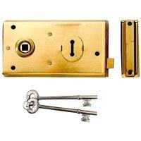Yale Locks P401 Rim Lock Black Finish 138 x 76mm Visi