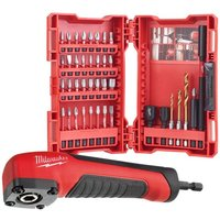 Milwaukee Power Tools 4932478906 SHOCKWAVE 40 Pc Screwdriver Bit Set with Right Angle Attachment
