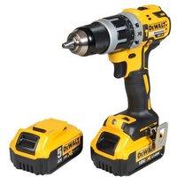 DEWALT DCK795PMGB XR Brushless G2 Combi Drill 18V 1 x 5.0Ah & 1 x 4.0Ah Li-ion