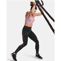 Womens UA RUSH HeatGear No-Slip Waistband Printed Full-Length Leggings