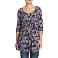Weird Fish Ella 3/4 Sleeve Printed Slub Tunic Ink Size 10