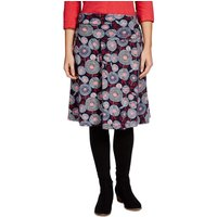 Weird Fish Malmo Printed A-Line Mid Length Jersey Skirt Ink Size 14