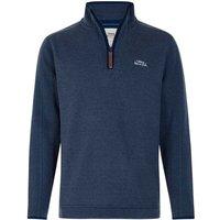Weird Fish Talas Plain 1/4 Zip Soft Knit Fleece Sweatshirt China Blue Size L