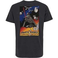 Weird Fish Darth Wader Artist T-Shirt Charcoal Size M