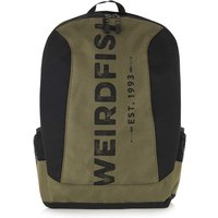 Weird Fish Astera Panelled Branded Backpack Olive Night Size ONE