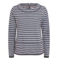 Weird Fish Mendota Striped Loopback Cotton Sweatshirt Navy Size 18