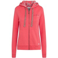 Weird Fish Taloga Print Lined Hood Full Zip Hoodie Bright Coral Size 18