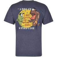 Weird Fish A-Bream Printed Artist T-Shirt Navy Marl Size L
