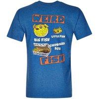 Weird Fish Big Fish Little Fish Printed Artist T-Shirt Dark Blue Marl Size XS