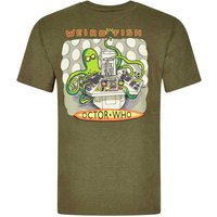 Weird Fish Octor Who Printed Artist T-Shirt Military Olive Marl Size XL