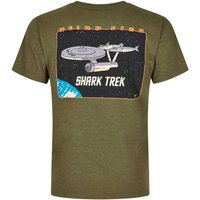 Weird Fish Shark Trek Printed Artist T-Shirt Military Olive Size 2XL