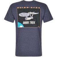 Weird Fish Shark Trek Printed Artist T-Shirt Navy Size 2XL