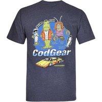 Weird Fish Cod Gear Printed Artist T-Shirt Navy Marl Size XL