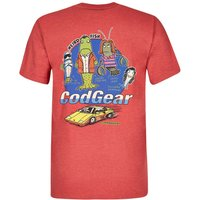 Weird Fish Cod Gear Printed Artist T-Shirt Baked Apple Marl Size XS