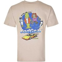 Weird Fish Cod Gear Printed Artist T-Shirt String Marl Size S