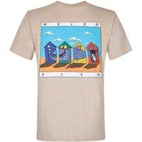 Weird Fish Weird Huts Printed Artist T-Shirt String Marl Size S