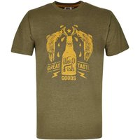 Weird Fish Great Taste Graphic Print T-Shirt Military Olive Marl Size 5XL