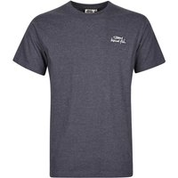 Weird Fish Bones Embroidered Logo Classic Plain T-Shirt Navy Marl Size L