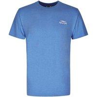 Weird Fish Bones Embroidered Logo Classic Plain T-Shirt Regatta Blue Marl Size L