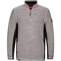 Weird Fish Vaileo 1/4 Zip Fleece Lined Macaroni Sweatshirt Grey Size 2XL