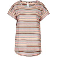 Weird Fish Comanche Cotton Jersey Striped T-Shirt Light Coral Size 12