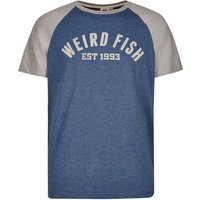 Weird Fish Ying Jersey Raglan Graphic Print T-Shirt Ensign Blue Size S