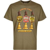 Weird Fish Weird Beers Printed Artist T-Shirt Military Olive Size 3XL