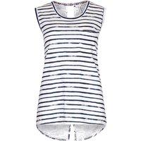 Weird Fish Native Stripe Vest Top Navy Blue Size 16