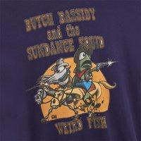 Weird Fish Butch Bassidy Artist T-Shirt Rich Navy Size M