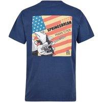 Weird Fish Bruce Springsbream Printed Artist T-Shirt Ensign Blue Size L