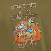 Weird Fish Butch Bassidy Artist T-Shirt Moss Green Size 2XL
