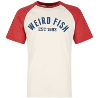 Weird Fish Ying Jersey Raglan Graphic Print T-Shirt Baked Apple Size L