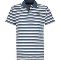 Weird Fish Isonoe Textured Stripe Polo Shirt China Blue Size 2XL
