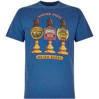Weird Fish Weird Beers Printed Artist T-Shirt Dark Blue Size 2XL
