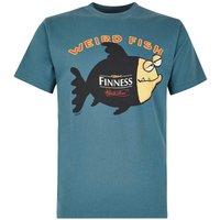 Weird Fish Finness Cotton Printed Artist T-Shirt Sea Green Size 2XL