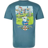Weird Fish Catch Of The Day Cotton Printed Artist T-Shirt Sea Green Size M