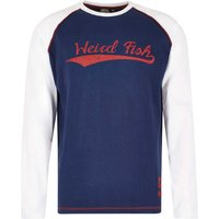 Weird Fish Talsi Long Sleeve Graphic Print T Shirt White Size S