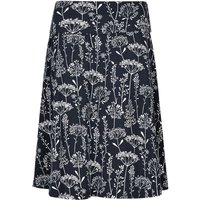 Weird Fish Malmo Printed Jersey Skirt Ink Size 20