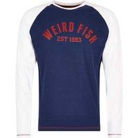 Weird Fish Balvi Long Sleeve Graphic Print T Shirt White Size XL