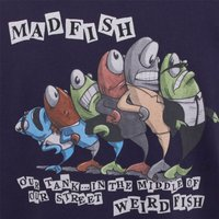 Weird Fish Madfish Artist T-Shirt Rich Navy Size 2XL